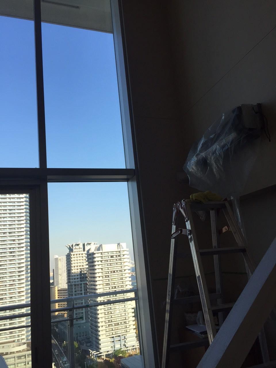 11/6 エアコン、窓クリーニング@神奈川区金港町