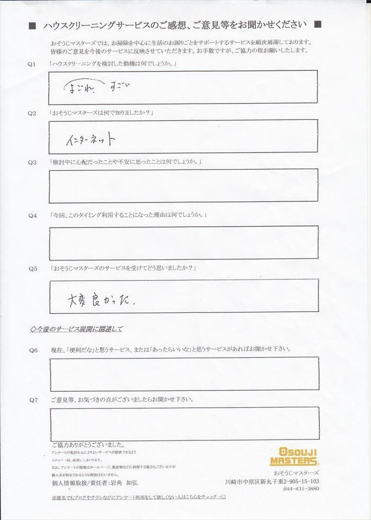 2017/04/19 レンジフードクリーニング 東京都世田谷区