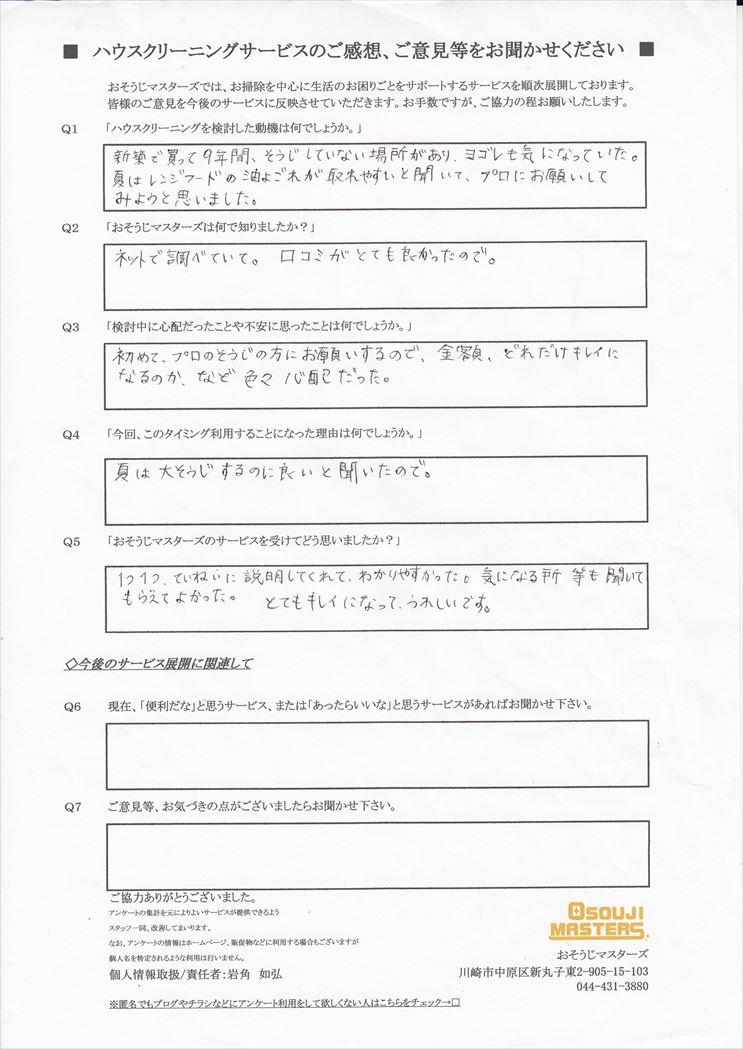 2017/09/20 水まわり3点クリーニング 東京都大田区