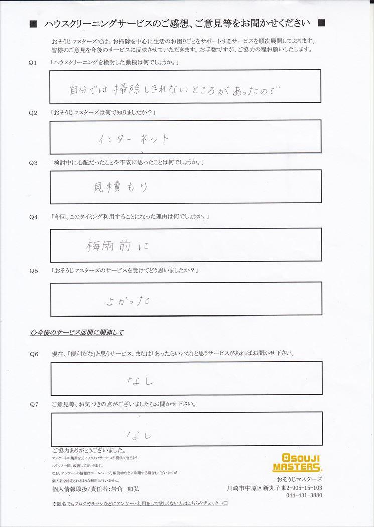 2018/06/04 レンジフード・浴室・窓サッシクリーニング 東京都渋谷区