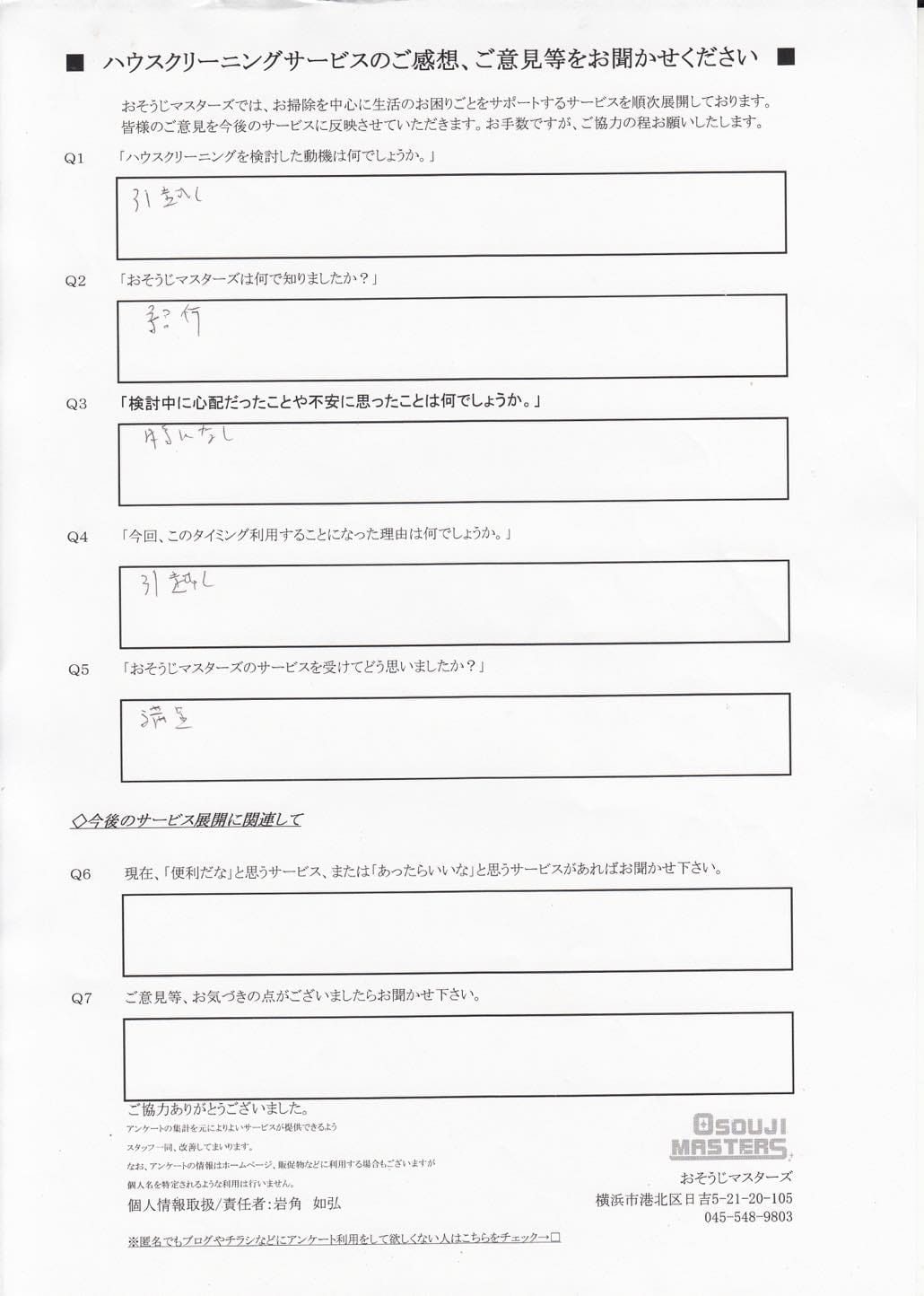 2015/07/18 全体クリーニング 【東京都板橋区】