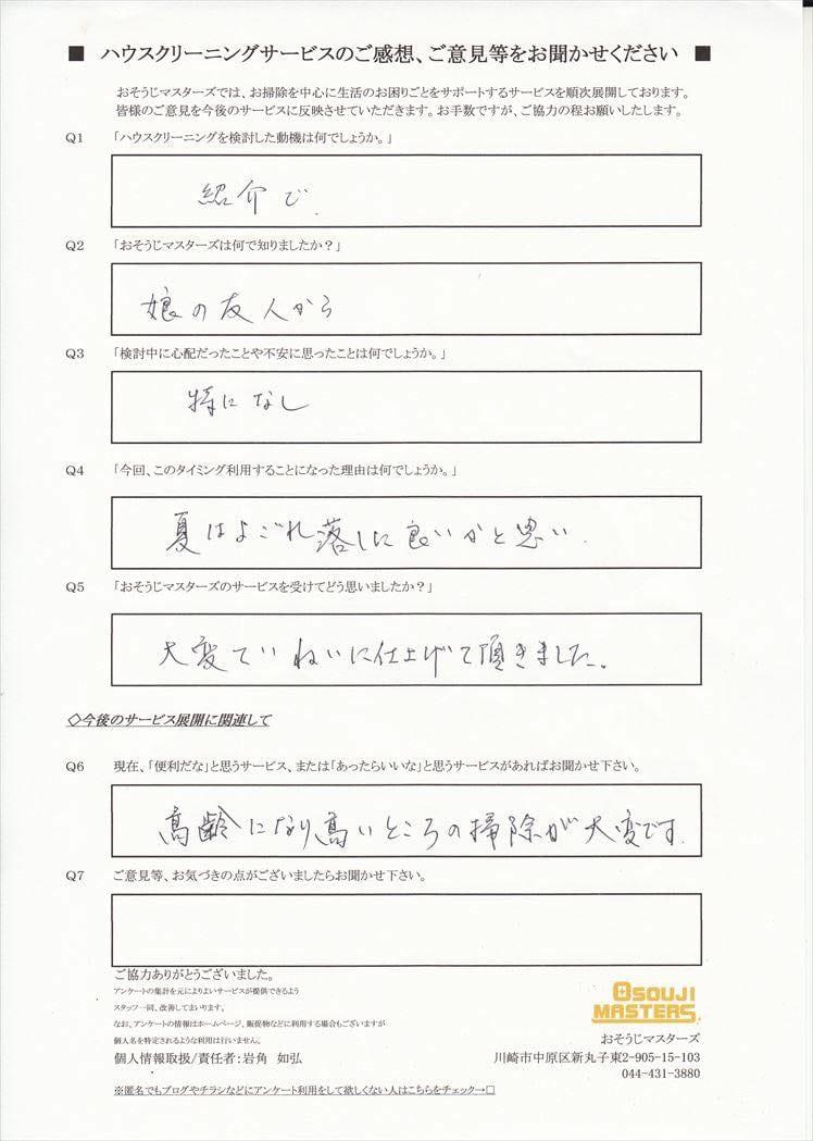 2016/08/05 浴室・レンジフードクリーニング 埼玉県上尾市