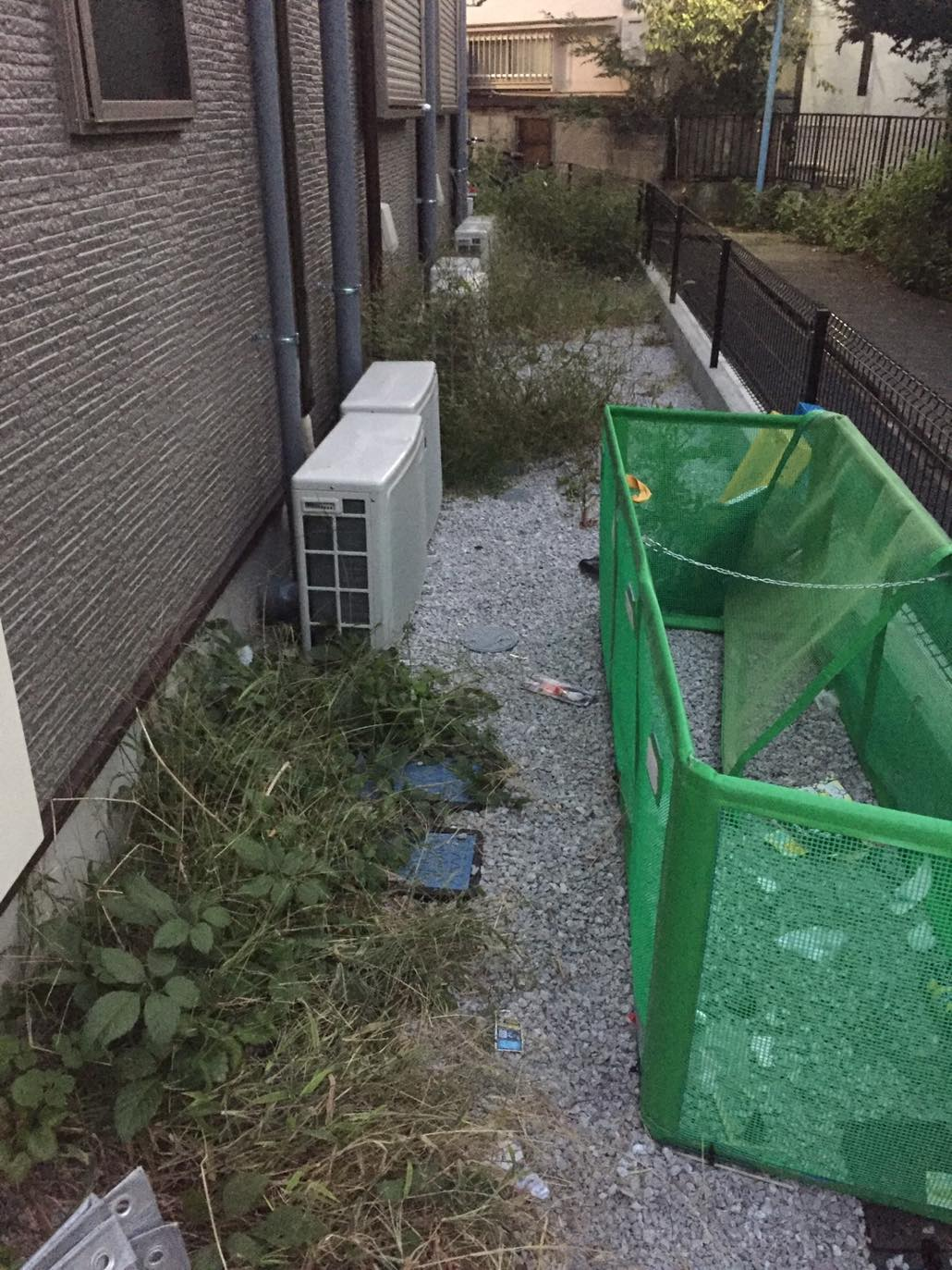 庭や共用部の雑草取りなど