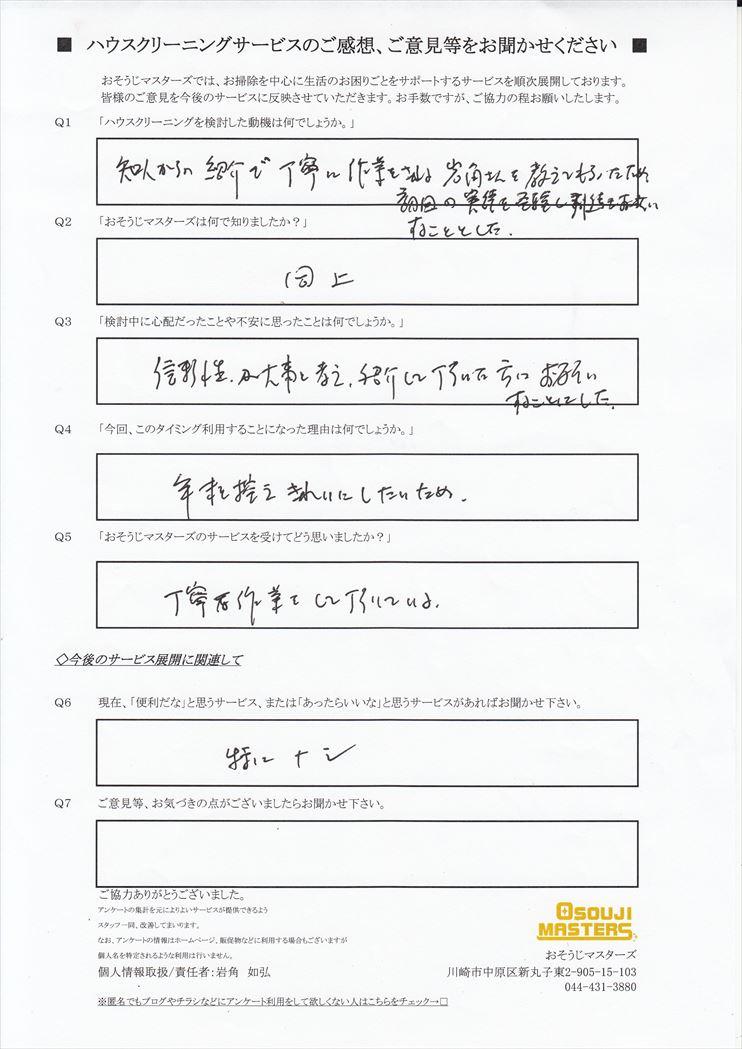2017/12/1 レンジフードクリーニング 東京都大田区