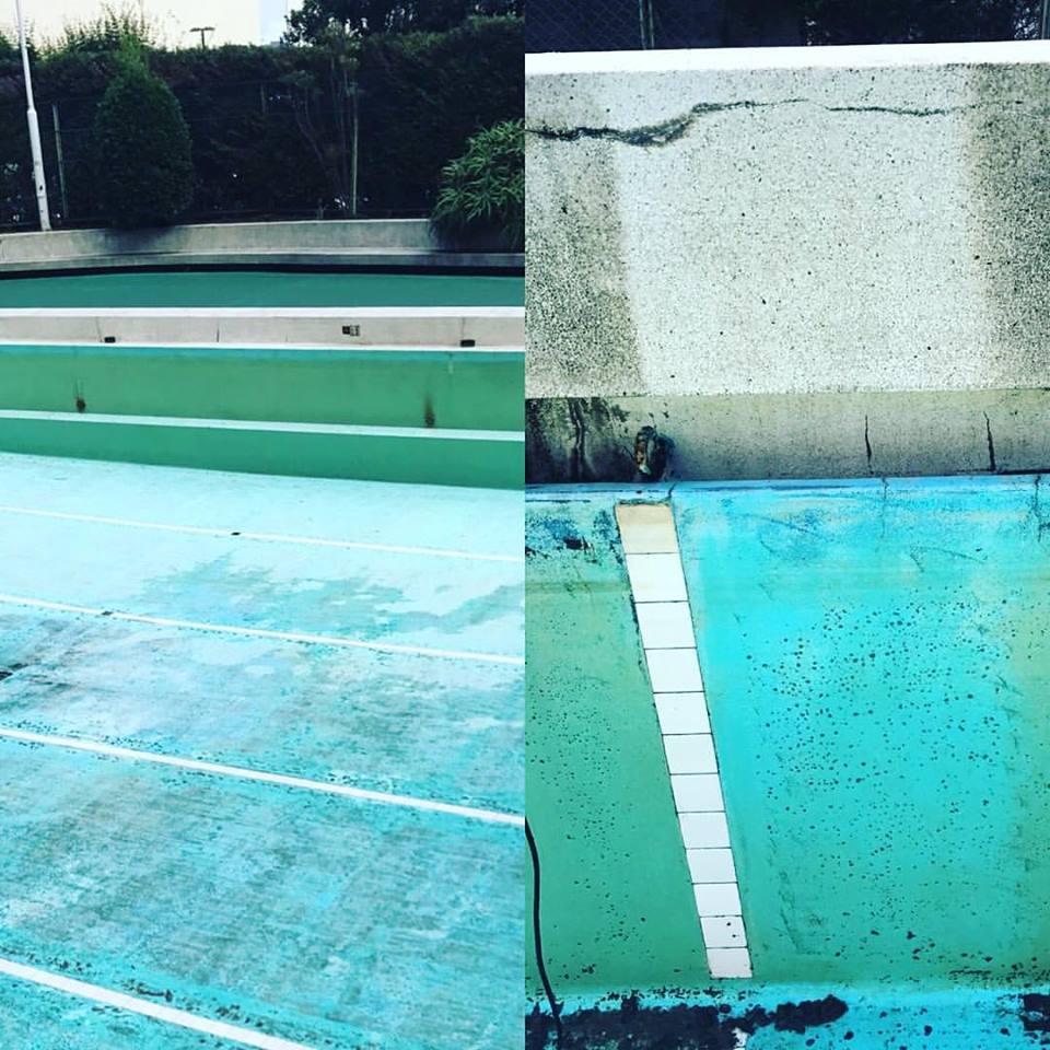 学校、マンションなどにあるプールの清掃について