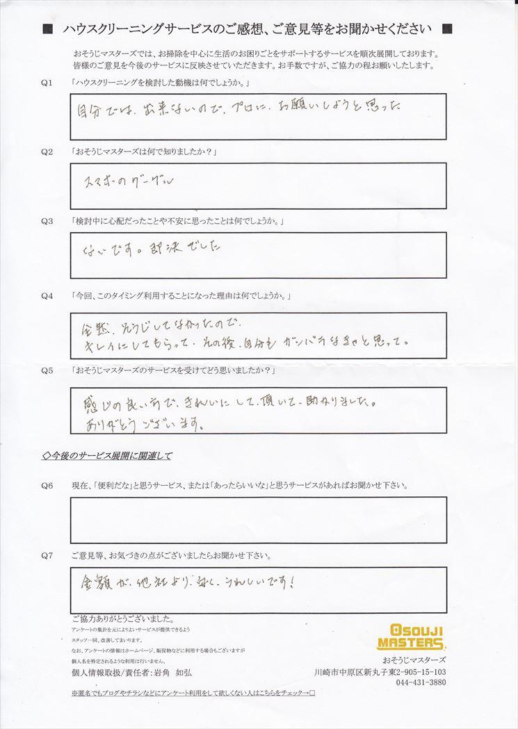 2018/12/6 レンジフードクリーニング 東京都大田区