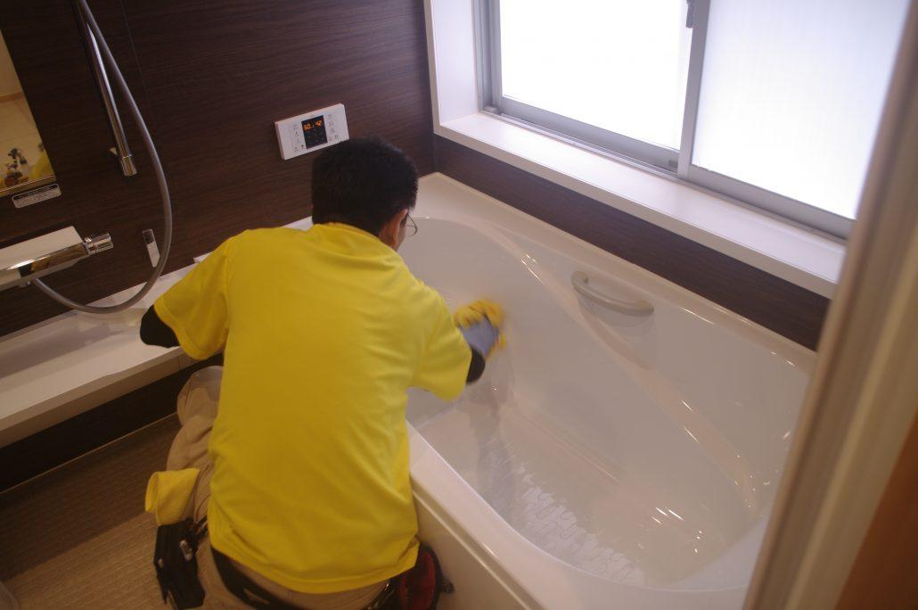 風呂釜(追い炊き配管)の洗浄作業について